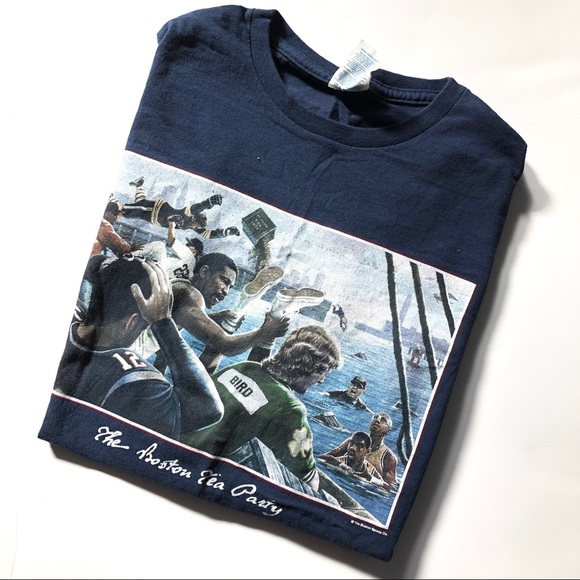 ae20ad645b41a Mens Boston Tea Party Sports Shirt - large - EUC